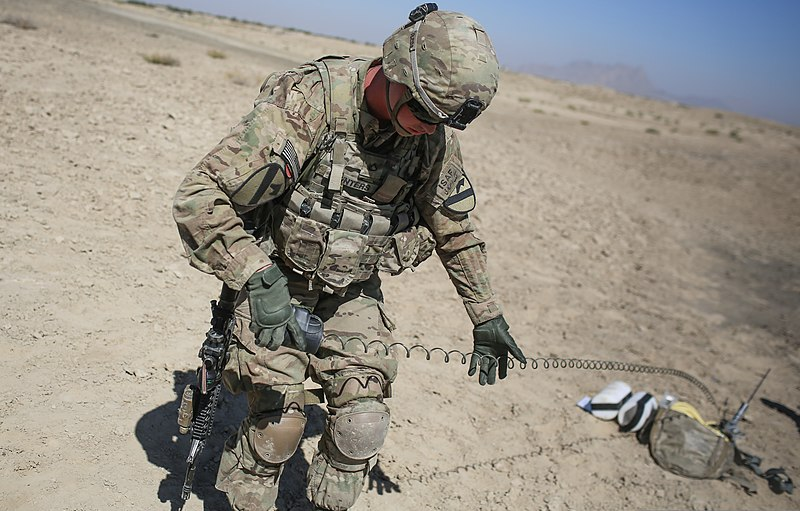 FileUS Army Pfc Grant Winters, a cavalry scout assigned to