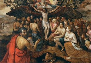 Frans Floris - The Sacrifice of Jesus Christ, ...
