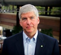 English: Michigan Gov. Rick Snyder