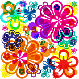 Psychedelic dingbats
