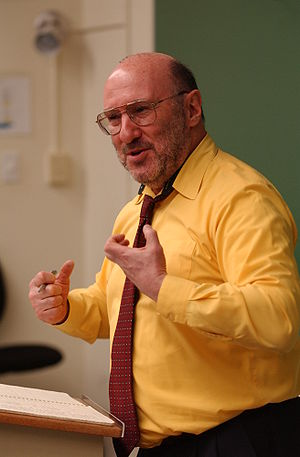 This image is of economist Walter Block teachi...