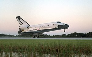The Space Shuttle Columbia makes its 18th land...
