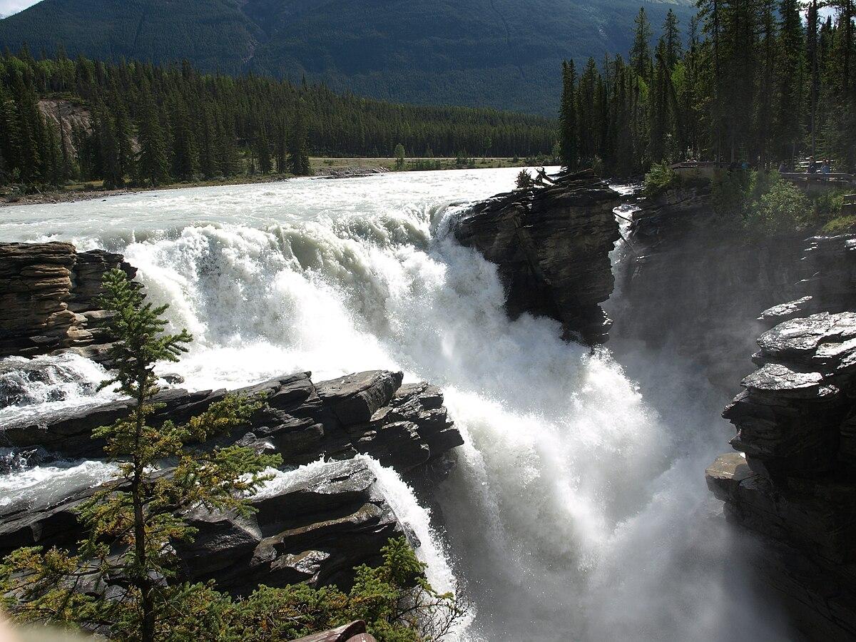 Fall Moutains Wallpaper Athabasca Falls Wikipedia