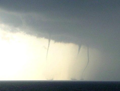 Three waterspouts Kijkduin