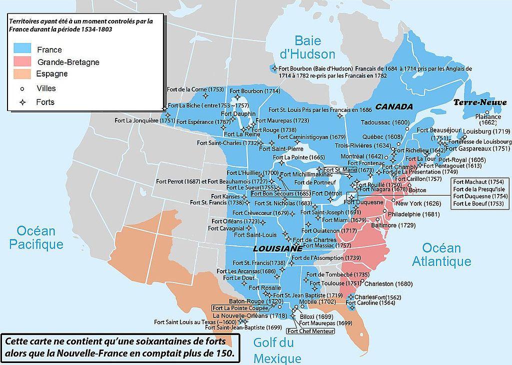 Résultats de recherche du0027images pour « amérique francaise - new world map blank wikipedia