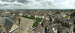 Maastricht, panorama view from Sint-Janskerk