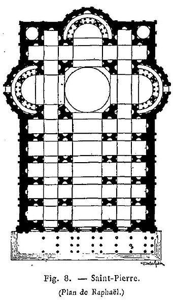 Raphaelu0027s unused plan for St Peteru0027s Basilica Renaissance - plan 3 k che