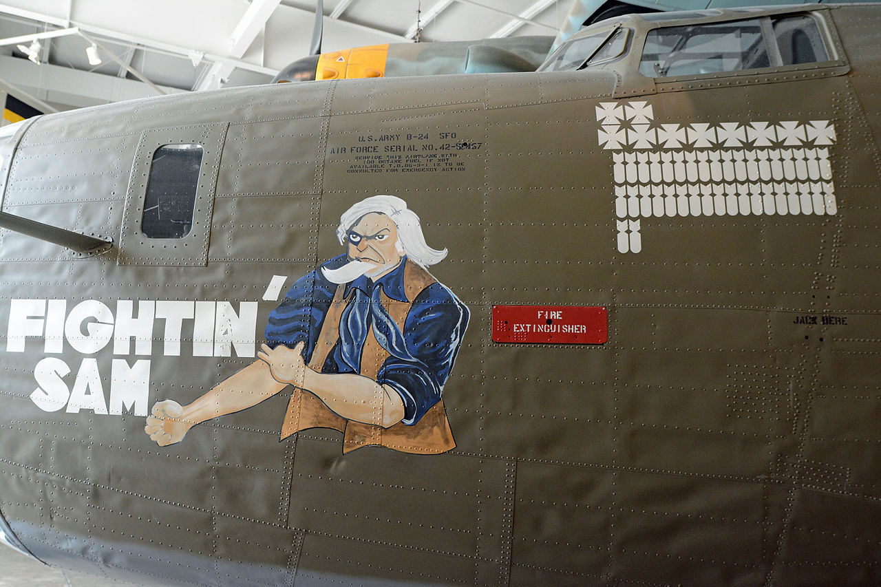 Arte 24 File B 24 Nose Art At Mighty 8th Air Force Museum Pooler