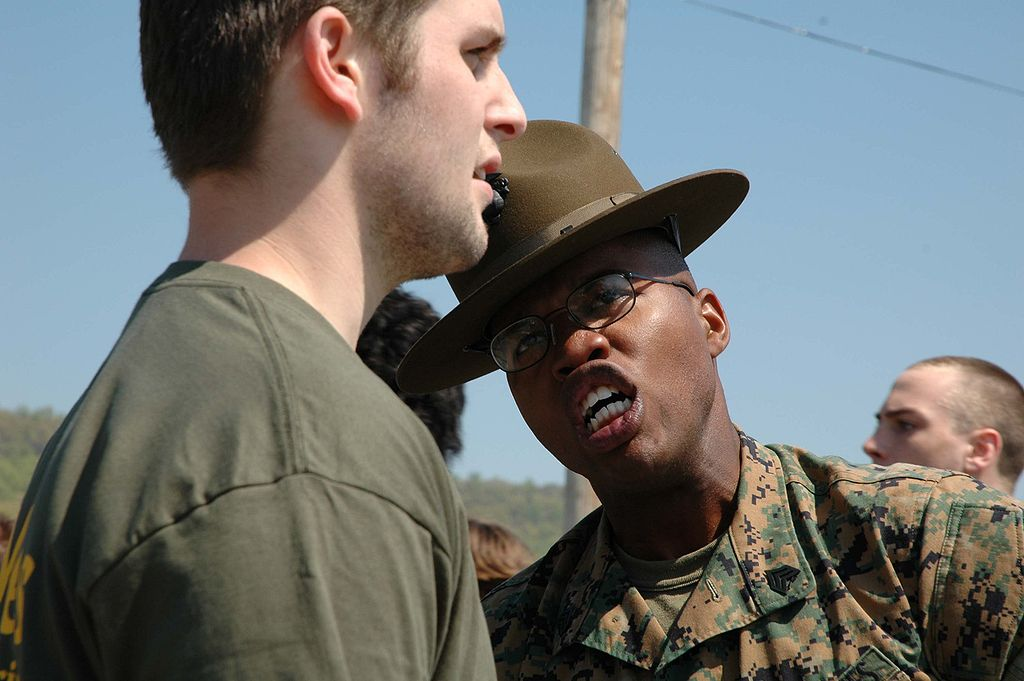 FileMarine Corps drill instructor yells at recruitjpg - Wikimedia