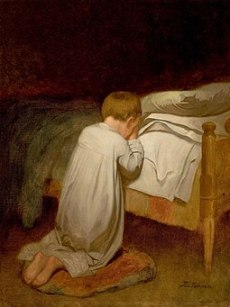Eastman Johnson, Child at Prayer, circa 1873