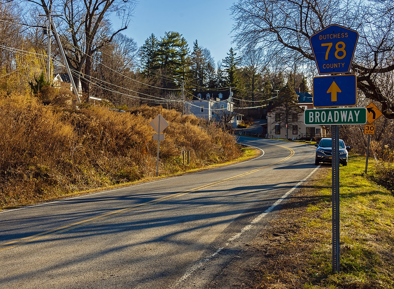 Tivoli Ny Images File Dutchess County Route 78 Sign Near Hudson River At