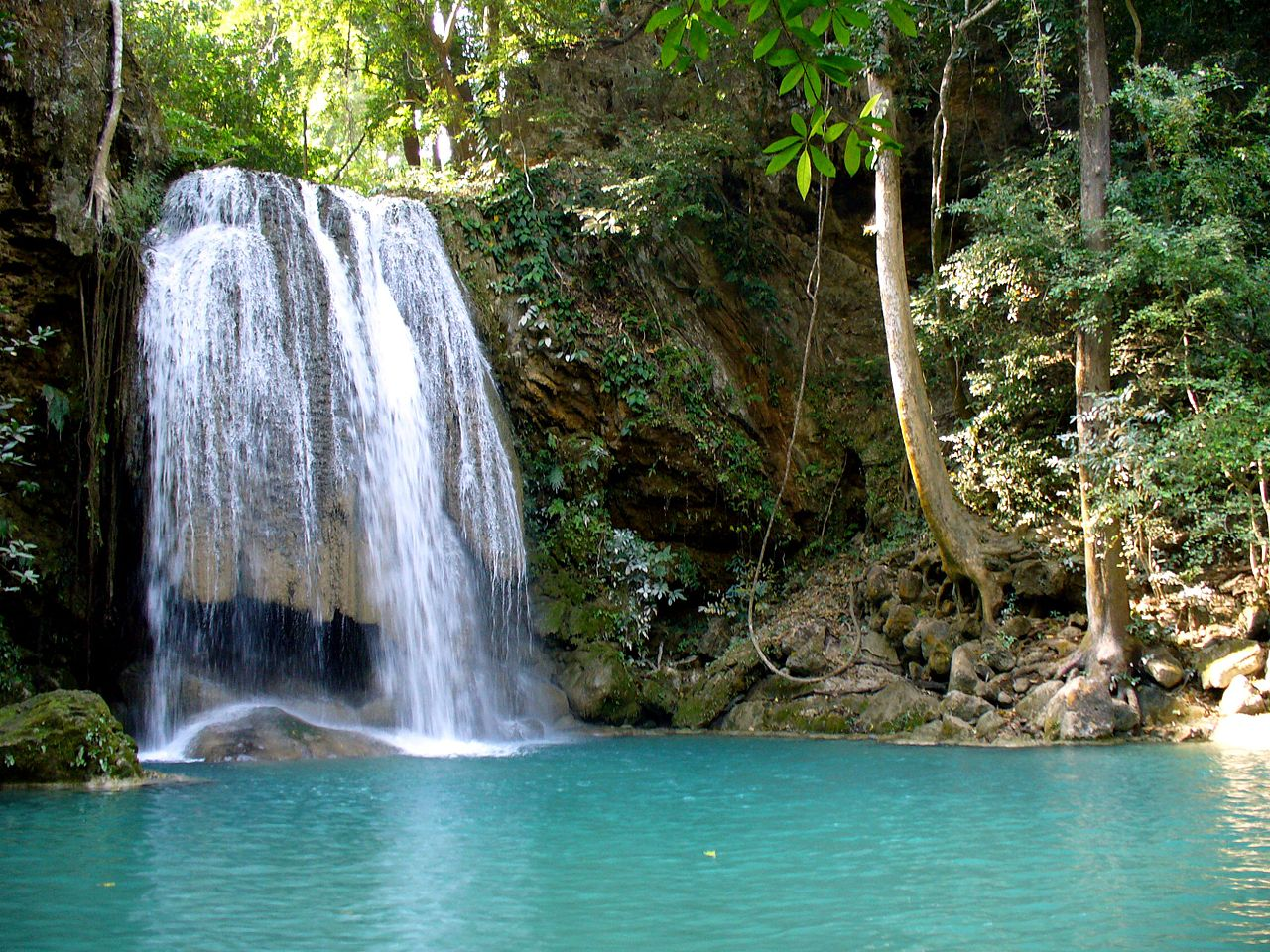 Beautiful Fall Location Wallpapers File Erawan National Park Kanchanaburi Thailand