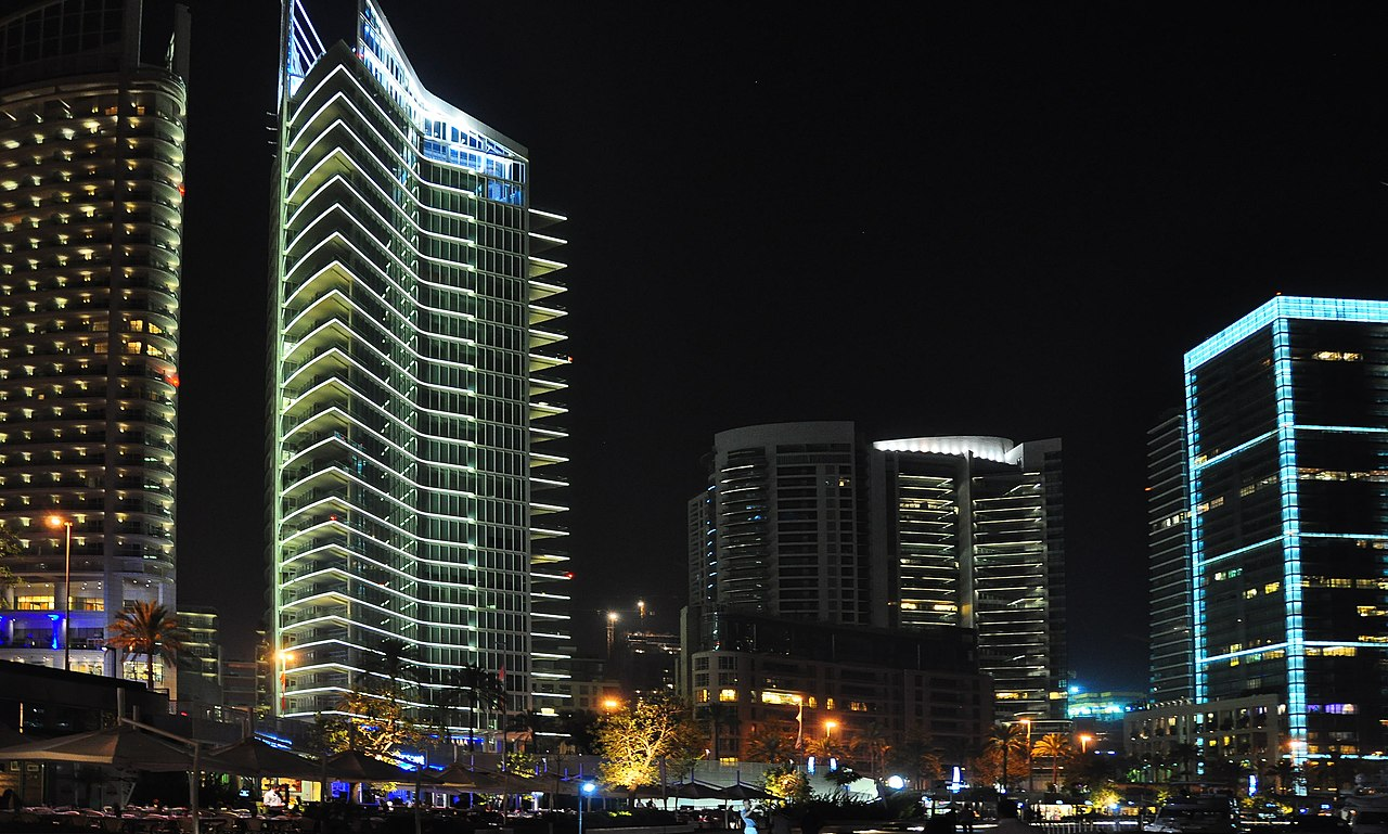 City Wallpaper Iphone File Seafront Towers At Zaitunay Bay Downtown Beirut Jpg