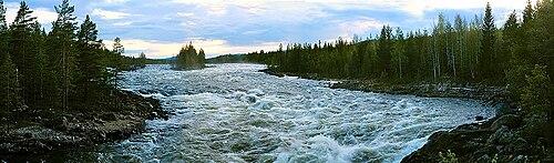 Fall Moutains Wallpaper Pite River Wikipedia