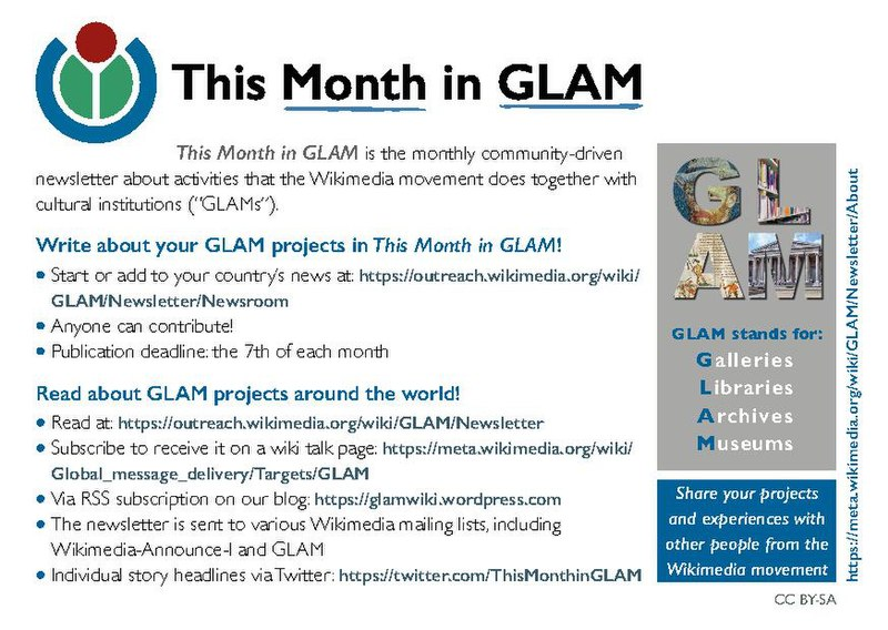 FileThis Month in GLAM newsletter flyer (2018)pdf - Wikimedia Commons - how to write a flyer
