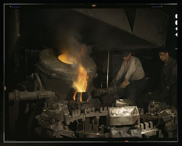 Filecasting A Billet From An Electric Furnace Chase