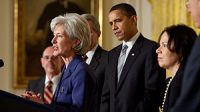 English: Kathleen Sebelius speaking after her ...