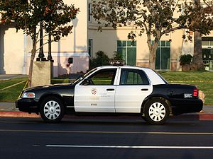 LAPD vehicle at a crime scene in Hollywood.