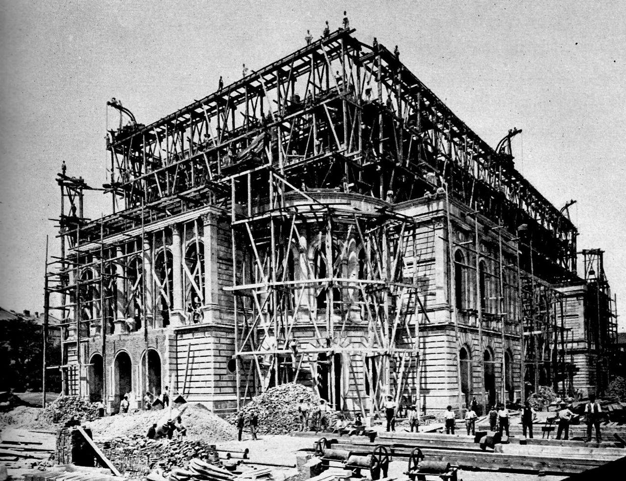 Baufirma Frankfurt File Construction Of Opera House 1873 To 1878 In Frankfurt On The