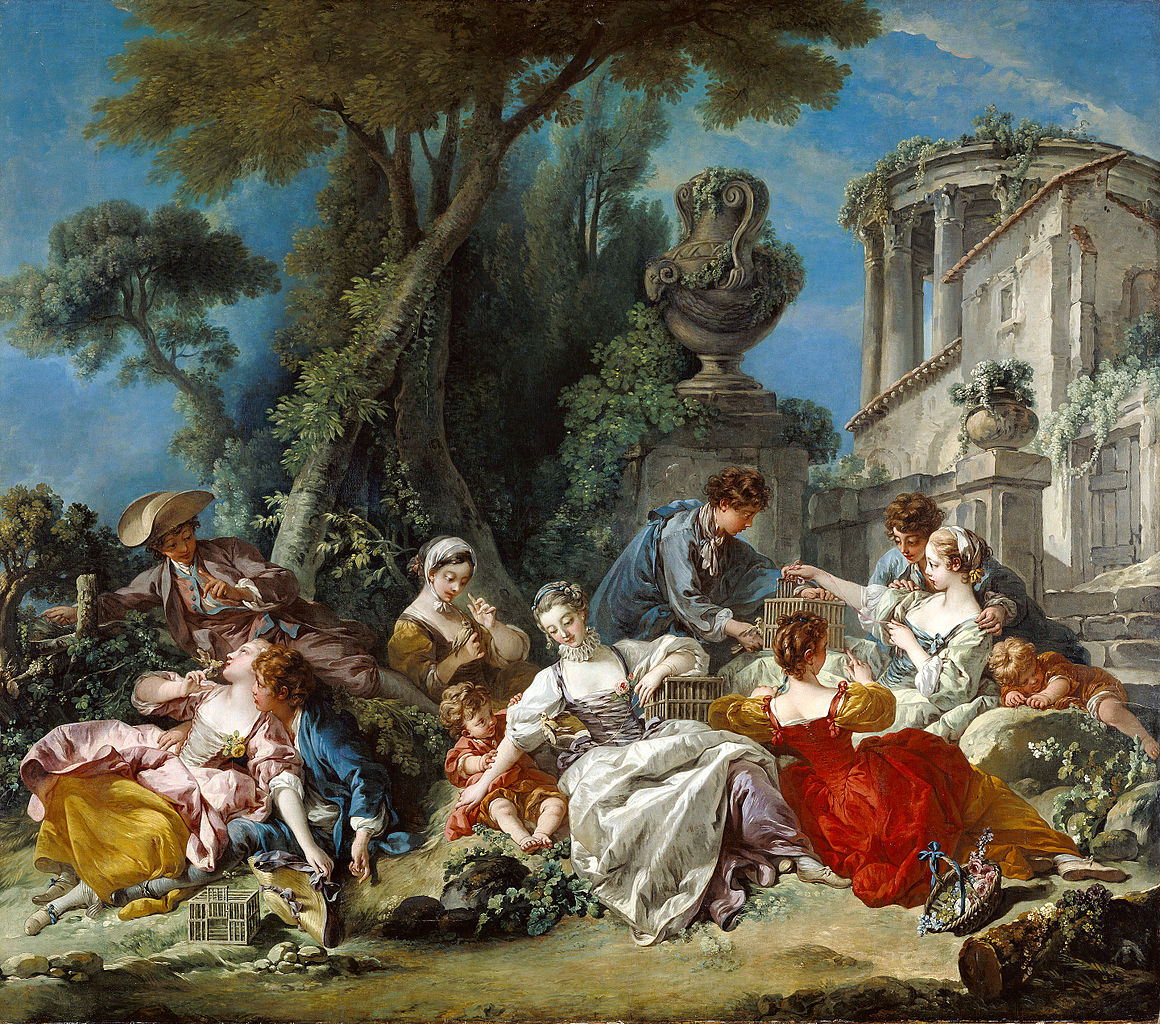 Pintura Rococo File François Boucher The Bird Catchers 71 Pa 38 J