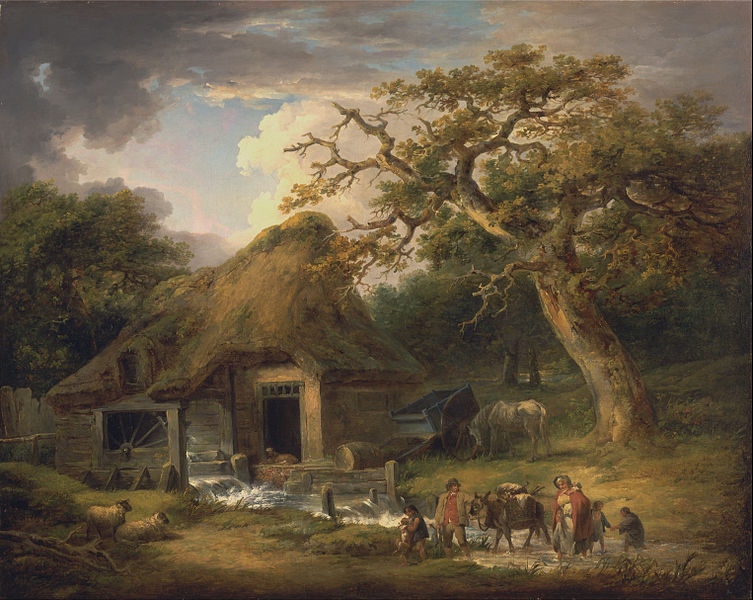 Wallpaper Fall Farmhouse Goats File George Morland The Old Water Mill Google Art