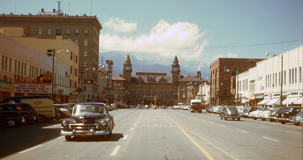 Niagara Falls Hd Wallpaper For Desktop File Colorado Springs Downtown 1950 S Jpg Wikimedia