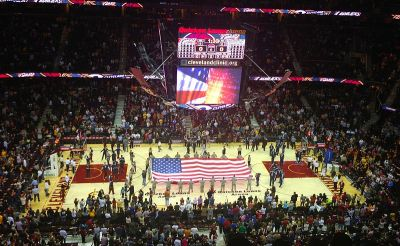 File:U.S. Flag at Quicken Loans Arena.jpg - Wikimedia Commons