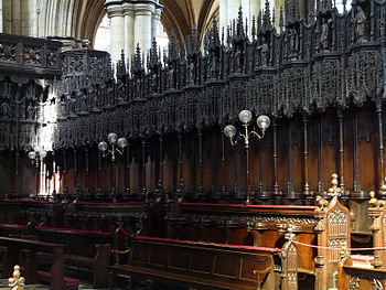 English: Beverley Minster, Beverley, East Ridi...