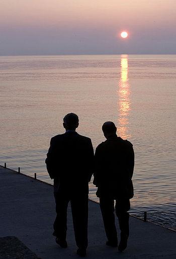 President George W. Bush and Russia's Presiden...