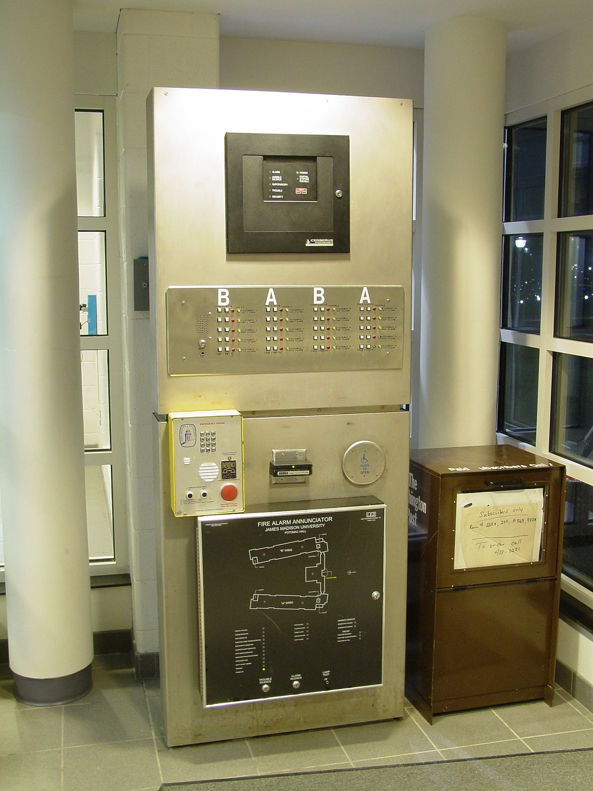 For A New Telephone Wiring Diagram For Installation Fire Alarm Control Panel Wikipedia