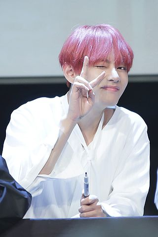 1000 Cute Wallpapers File V Kim Tae Hyung At A Fanmeet In Mok Dong In May