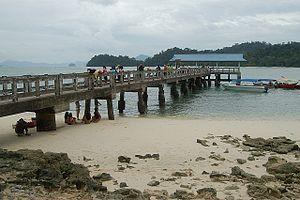 Jetty Pulau beras basah at langkawi