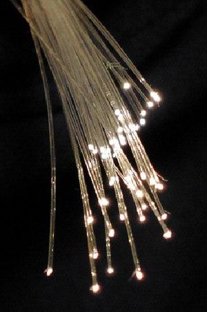 English: Fibre optic strands