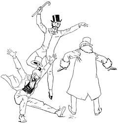 Henri Gerbault - Les financiers exprimant leur joie