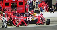 A pit stop for Tony Stewart at the Pepsi Max 4...