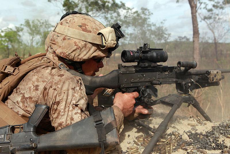 FileA US Marine Corps machine gunner with Weapons Platoon, Lima
