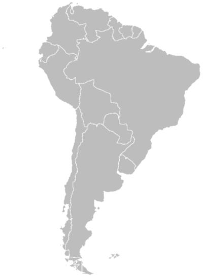 latin america map blank