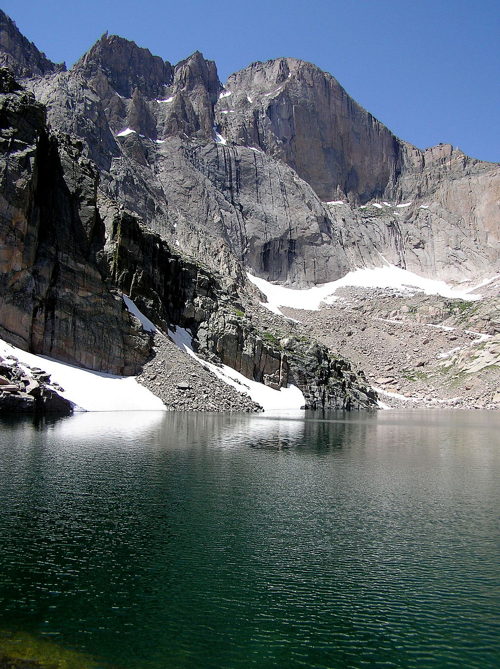 High Alpine Lake Rocky Mountain National Park Colorado USA