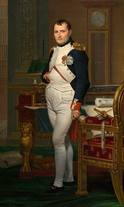 """""""The Emperor Napoleon in His Study at the Tuileries"""", painted by Jacques-Louis David, 1812.  source: Wikipedia"""