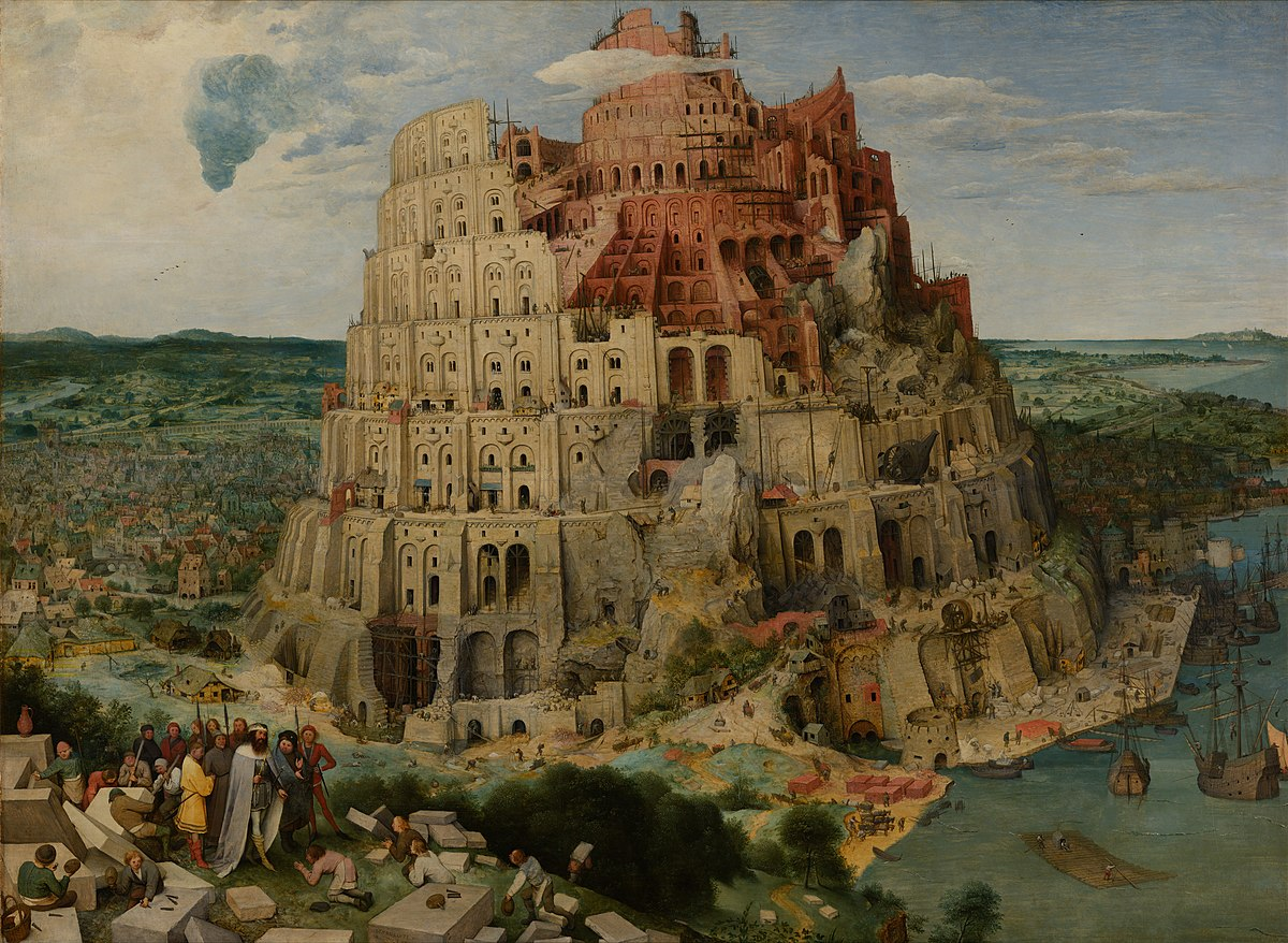 Arte Online Madrid The Tower Of Babel Bruegel Wikipedia