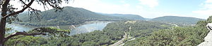 English: View southwest from Weverton Cliffs