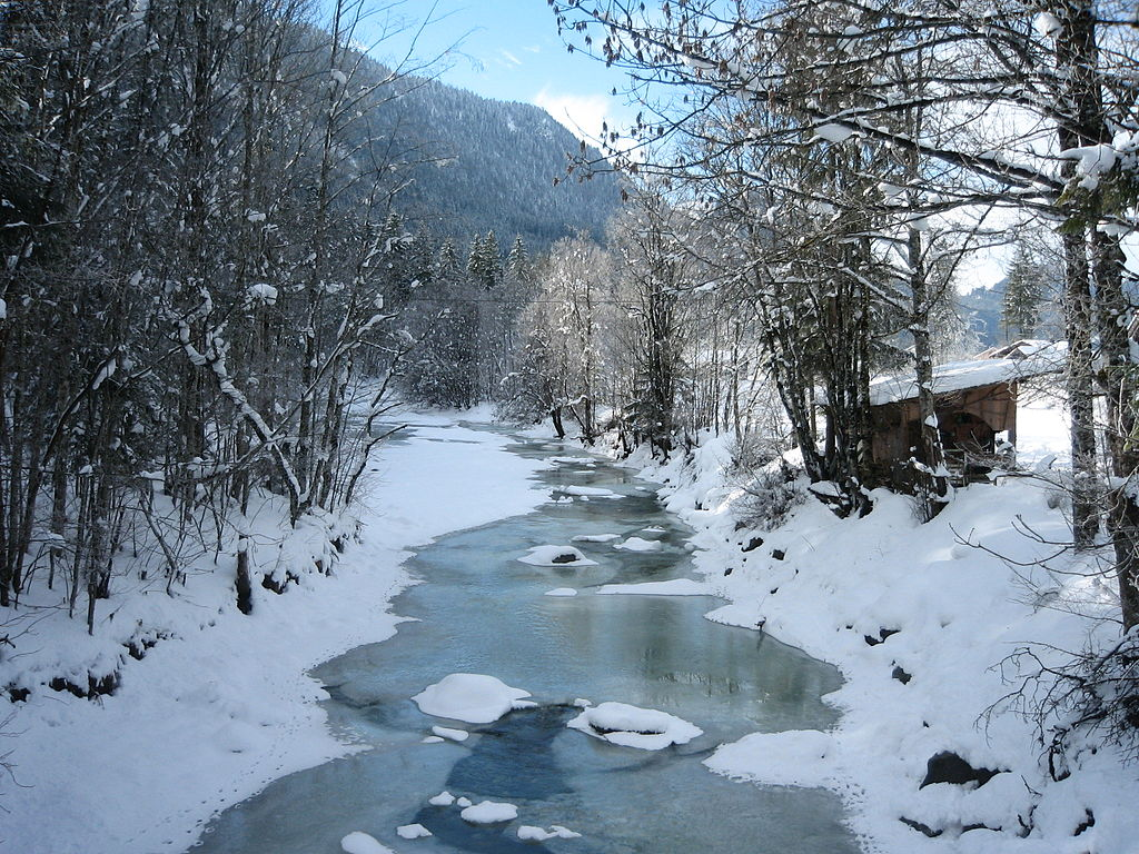 Cute Wallpapers For Adults File The Jachen Stream On A Sunny Winter Day Bavaria