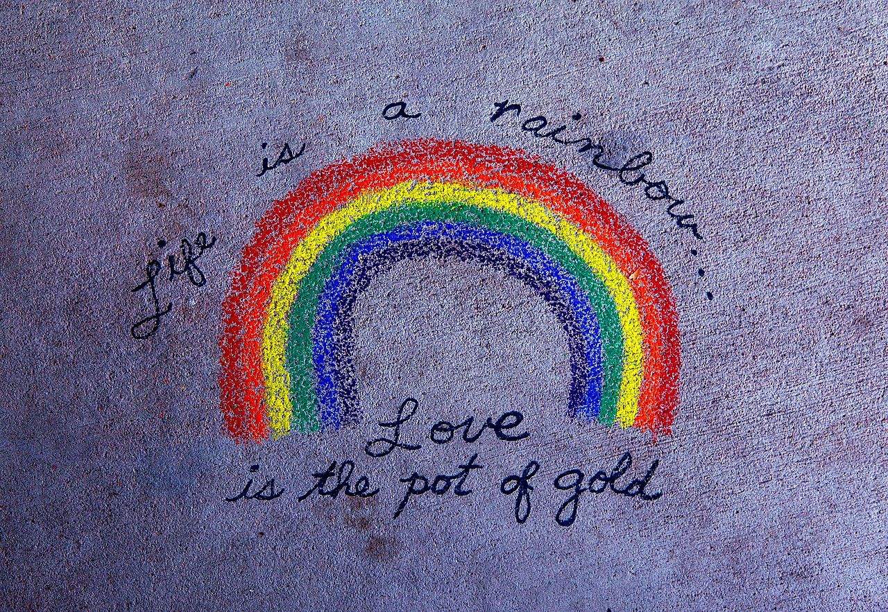 Enjoy Life Quotes Wallpapers File Life Is A Rainbow Love Is The Pot Of Gold