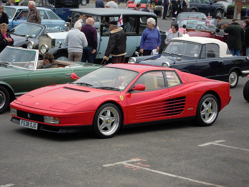 Antique Cars Wallpaper Hd File A Ferrari Testarossa Classic Car Rally Sheringham
