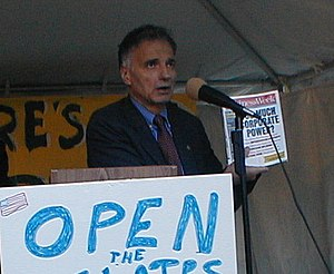 Ralph Nader speaks out against the presidentia...