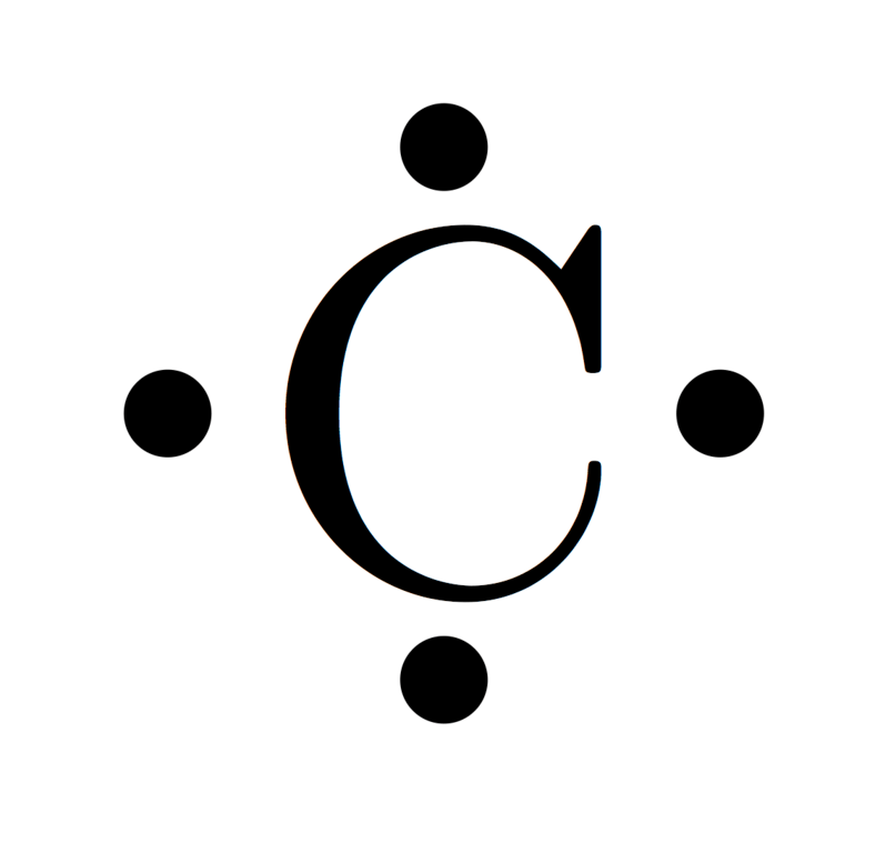 electron dot diagram for carbon