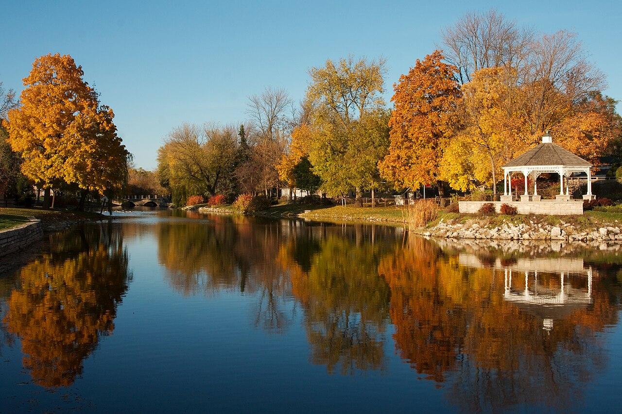 Fall October Wallpaper File Mill Pond Park Menomonee Fallss Wisconsin 9478 Jpg