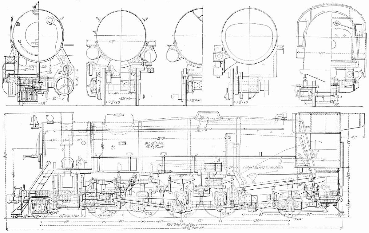 steam locomotive schematics