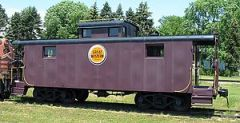 Chicago Great Western caboose at the National ...
