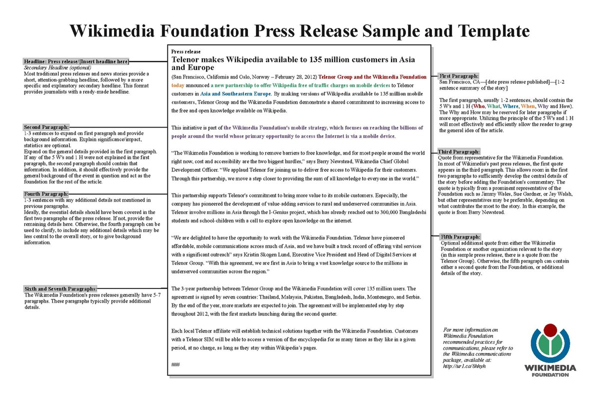 Press Release Template List Of Press Release Agencies Wikipedia